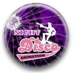 night disco animation logo