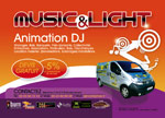 animation music and light logo