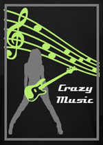 Crazy music logo