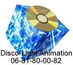 disco light animation logo